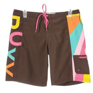 ROXY Board Shorts Sporty Burmuda Beach Logo